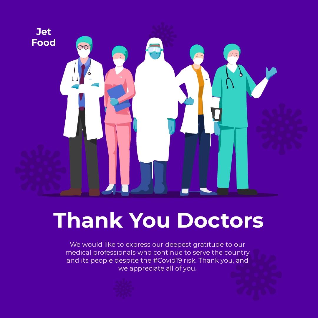 Coronavirus COVID-19 Thank You Doctors Instagram Post Template