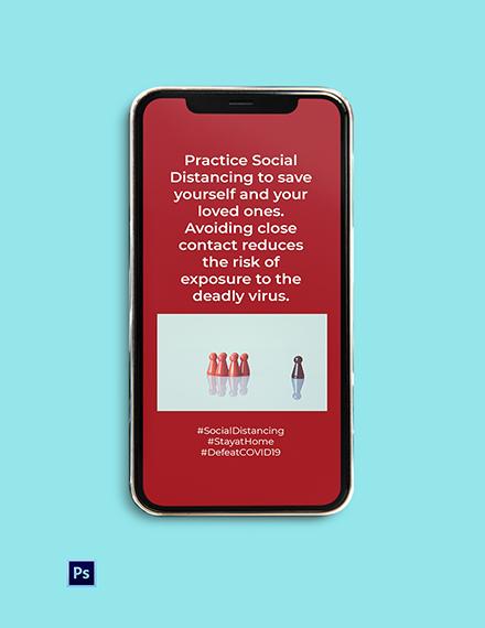 Coronavirus COVID-19 Social Distancing Instagram Story Template