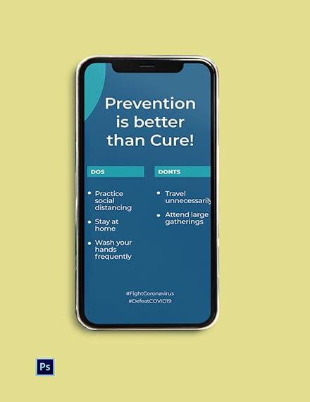 COVID-19 Coronavirus Protection Instagram Story Template