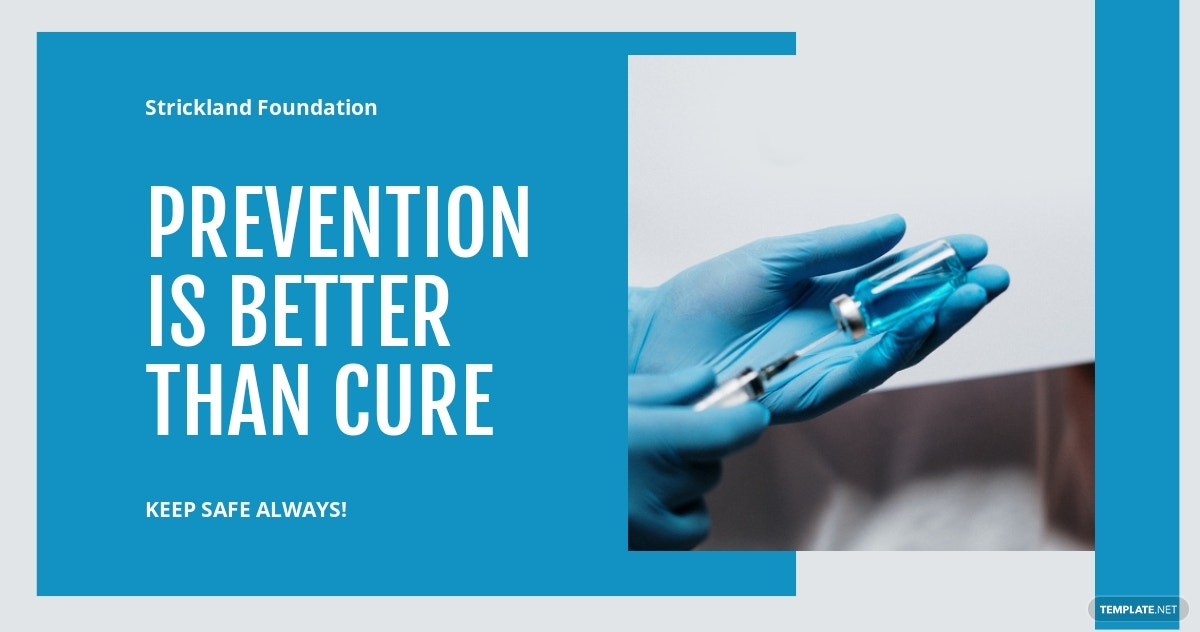 Coronavirus COVID-19 Prevention LinkedIn Post Template