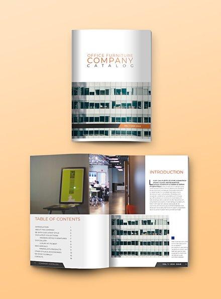Company Catalog Template