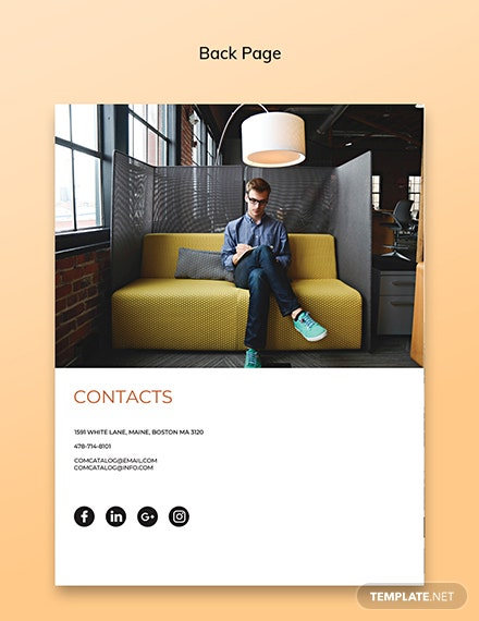 Company Catalog Template Back