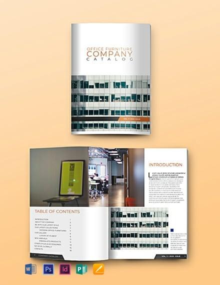 Free Company Catalog Template