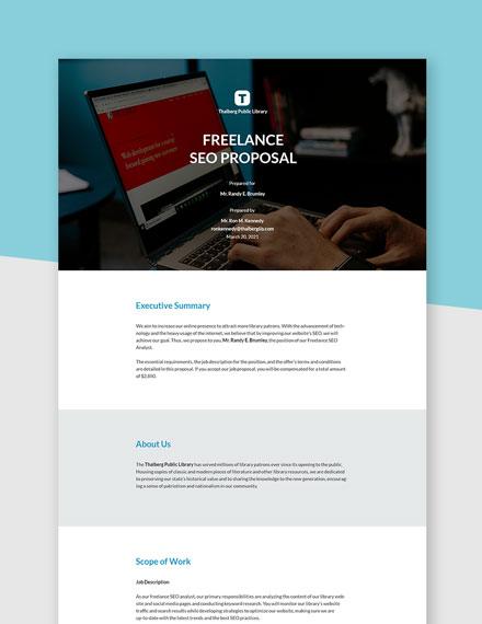 Editable Freelance SEO Proposal Template