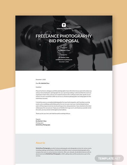 Editable Freelancer Bid Proposal Template
