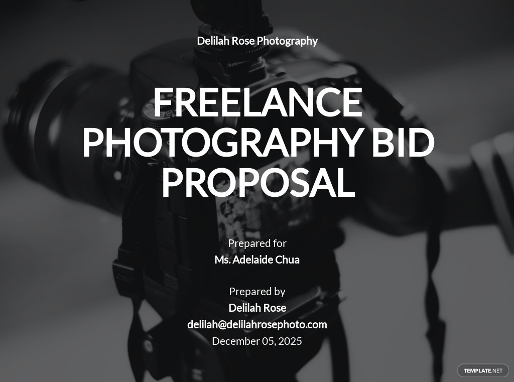 Freelancer Bid Proposal Template