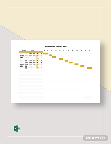 Free Sample Real Estate Gantt Chart Template
