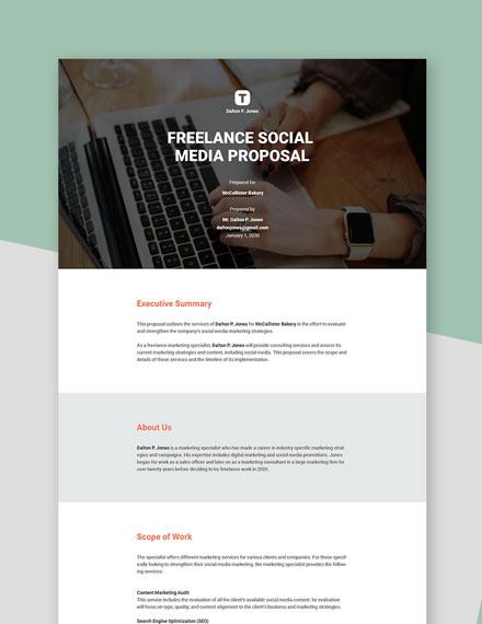 Editable Freelance Social Media Proposal Template