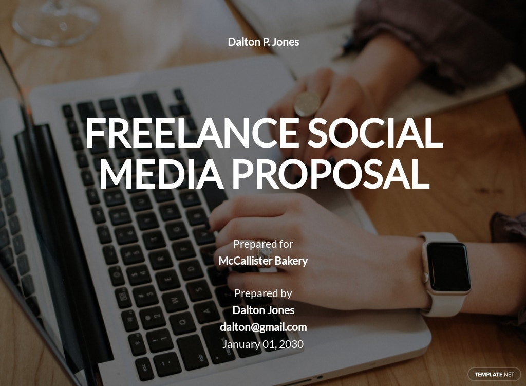 Freelance Social Media Proposal Template
