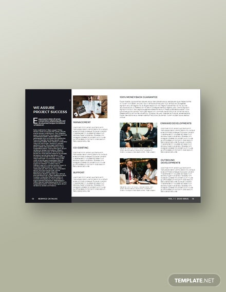 Free Service Catalog Example Template