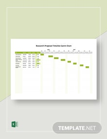 Research Proposal Timeline Gantt Chart Template