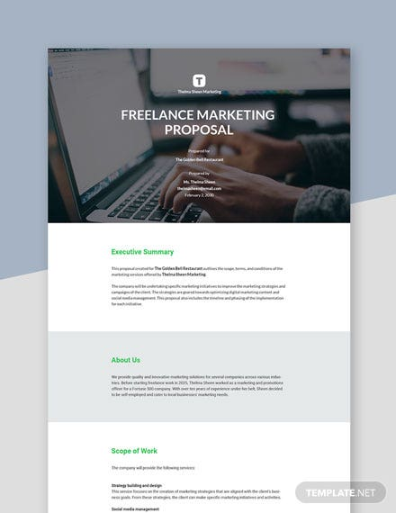 Freelance Marketing Proposal Template