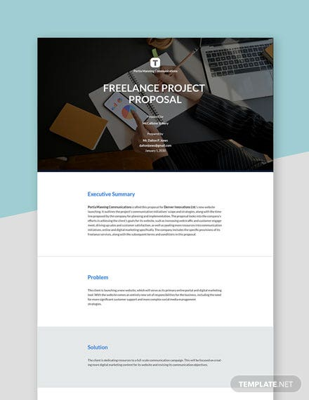 Editable Freelance Project Proposal Template