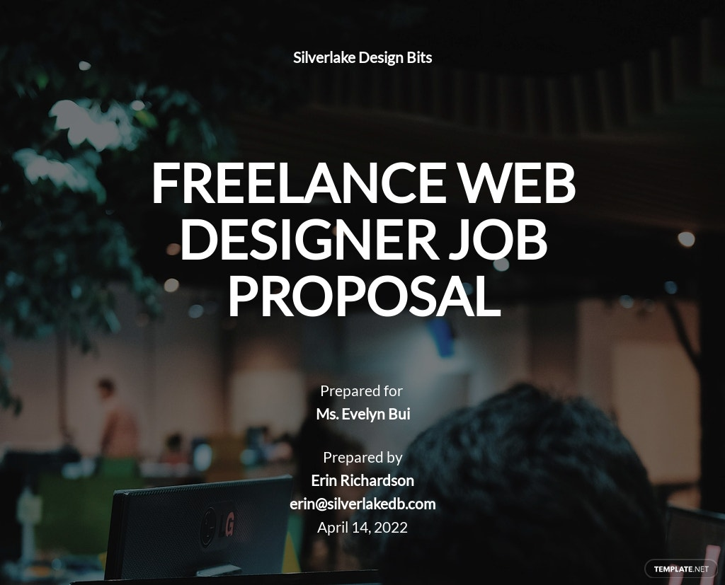One Page Freelance Web Designer Proposal Template