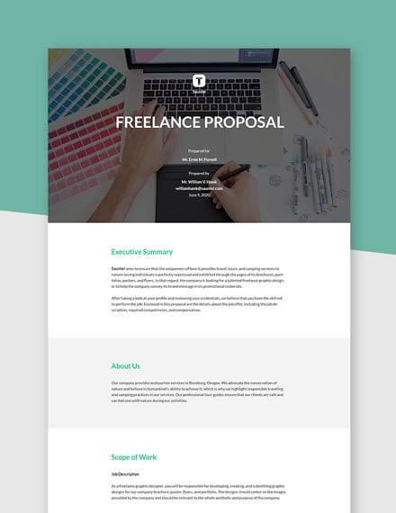 Editable Basic Freelance Proposal Template