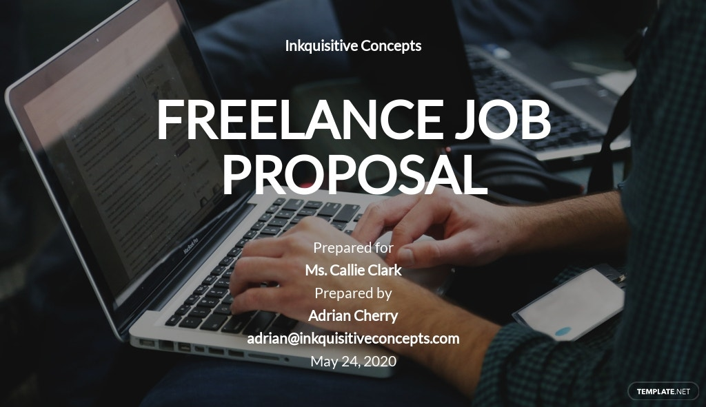 Simple Freelance Job Proposal Template