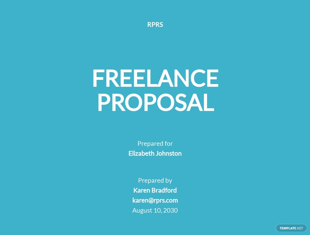 Sample Freelance Proposal Template
