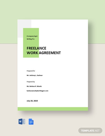 Freelance Work Agreement Template
