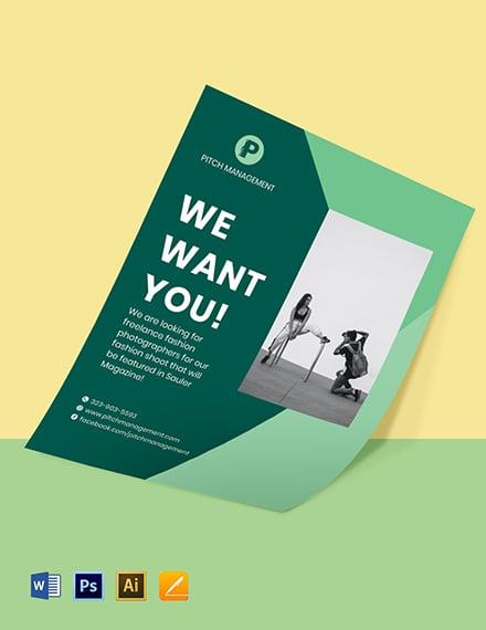 Freelance Job Hiring Flyer Template