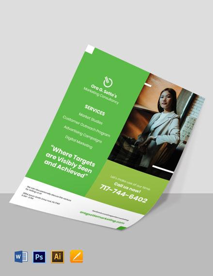 Freelance Marketing Flyer Template