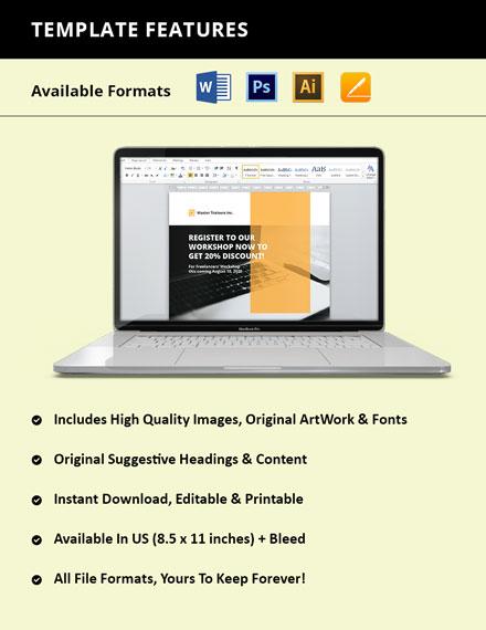 Freelance Workshop Flyer format