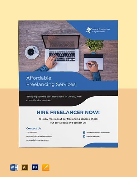 Freelance Business Flyer Template