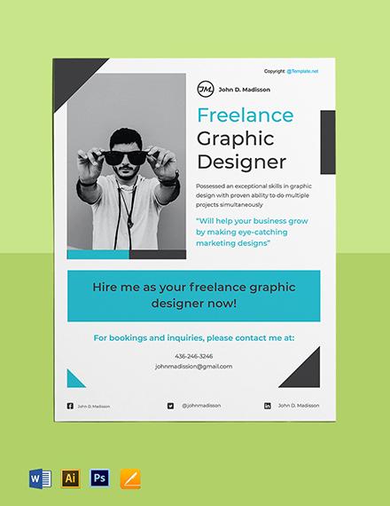 Sample Freelance Flyer Template
