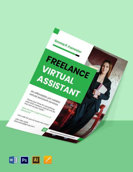 Modern Freelance Flyer Template