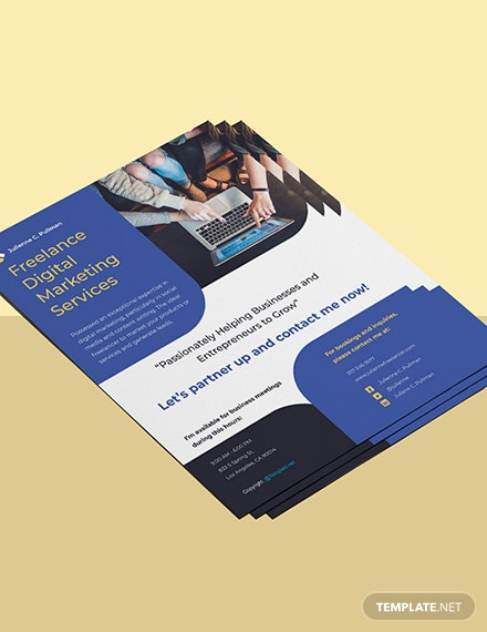 Free Simple Freelance Flyer Template Format