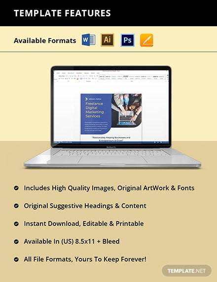 Free Simple Freelance Flyer Template Instruction