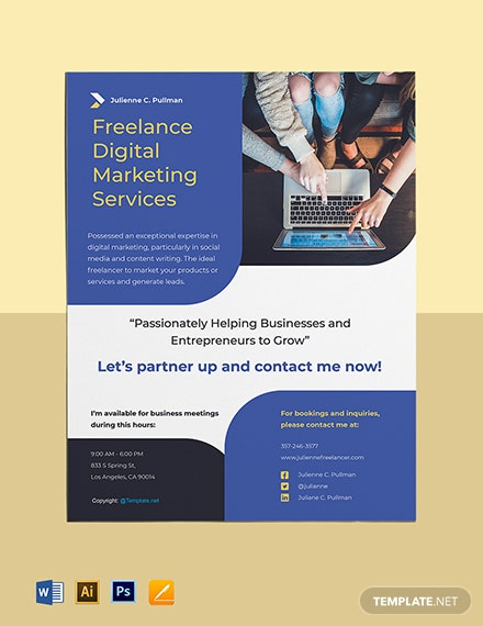 Free Simple Freelance Flyer Template