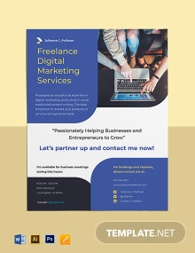 Simple Freelance Flyer Template