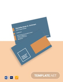 Minimal Freelancer Business Card Template