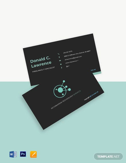 Free Simple Freelancer Business Card Template