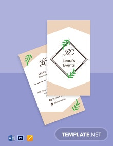 Freelance Event Planner Business Card Template