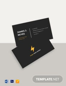 Freelance Video Editor Business Card Template