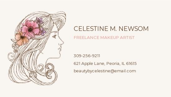 Freelance Makeup Artist Business Card Template 1.jpe
