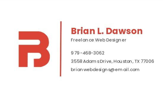 Freelance Web Designer Business Card Template 1.jpe