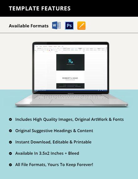 Freelance Graphic Designer Business Card Printable