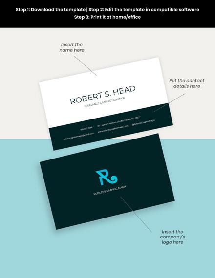 Freelance Graphic Designer Business Card Format