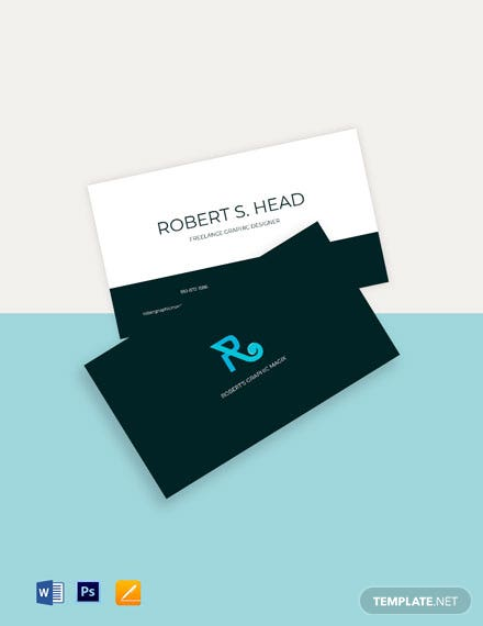 Freelance Graphic Designer Business Card Template