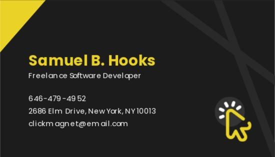 Freelance Software Developer Business Card Template 1.jpe