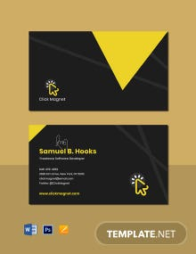 Freelance Software Developer Business Card Template