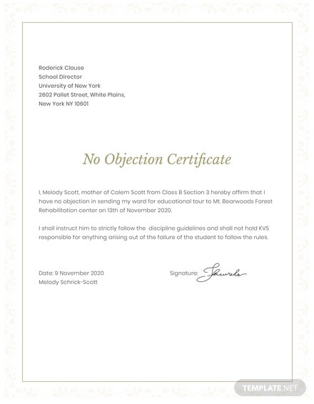 No objection certificate for student template download 200 no objection certificate for student template thecheapjerseys Choice Image