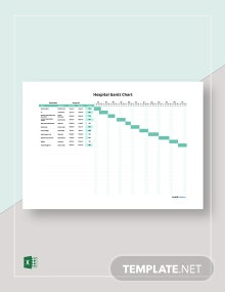 Free Simple Hospital Gantt Chart Template