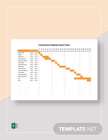 E-Commerce Website Gantt Chart Template