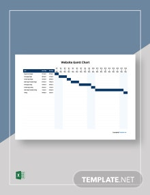 Simple Website Gantt Chart Template