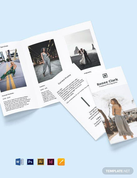 Tri-Fold Freelance Photographer Brochure Template