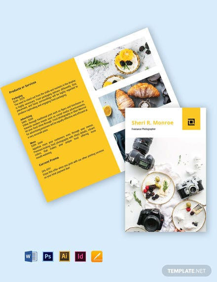 Bi-Fold Freelance Photographer Brochure Template