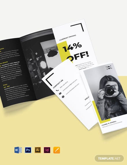 Tri-Fold Freelance Studio Brochure Template